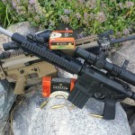 DPMS G2 vs SCAR17 accuracy testing w/ Federal Gold Medal Match ammo